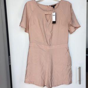 Short-sleeve Pink Romper